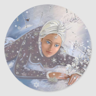 Snow Queen! Classic Round Sticker