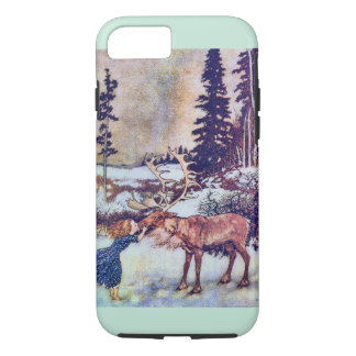 Snow Queen Fairy Tale with Reindeer iPhone 7 Case