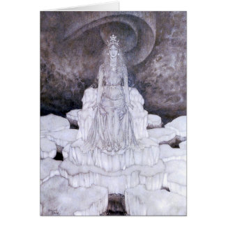 Snow Queen Fine Art Greeting Card