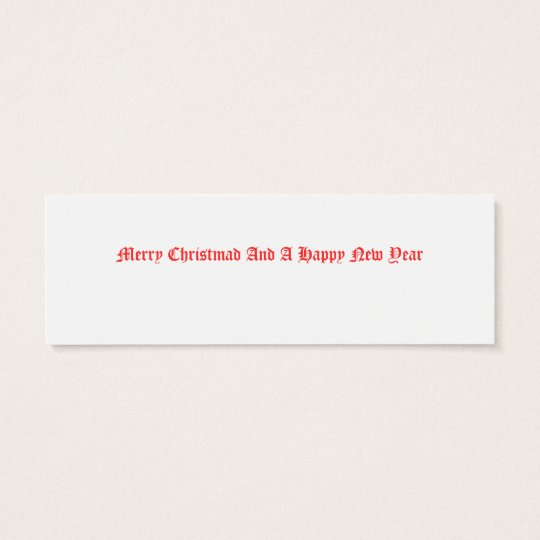 Snow Queen Note or Gift Mini Business Card