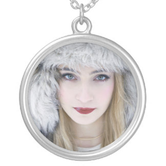 Snow Queen. Silver Plated Necklace