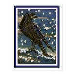 Snow Raven Postcard