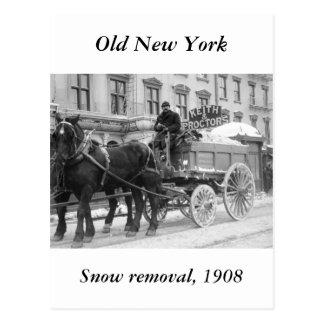 Snow Removal 1908 Post Cards