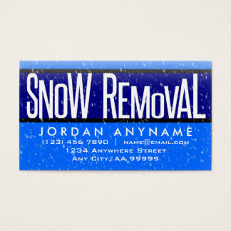 Snow Removal With Snow Falling Business Card