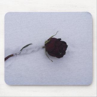 Snow Rose Mouse Mats