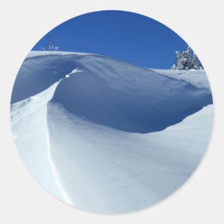 Snow Round Sticker