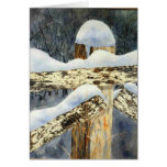 Snow-scape Greeting Card