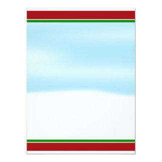 Snow Scene Background 6.5x8.75 Paper Invitation Card