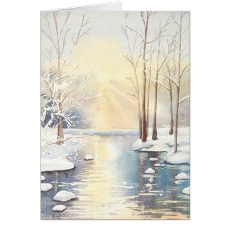Snow scene blank card