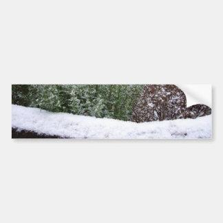 Snow Scene Bumper Stickers