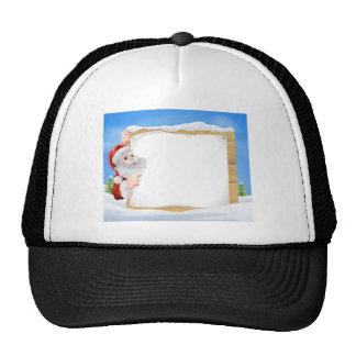 Snow scene Christmas Santa Sign Hat