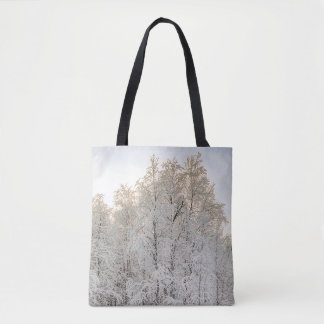 Snow Scene for All-Over-Print Tote Bag