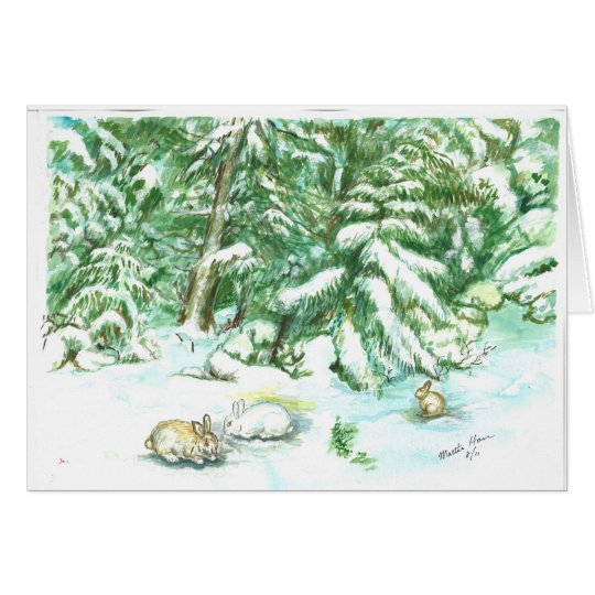 Snow scene in March on Mt. Siskyou Greeting Card