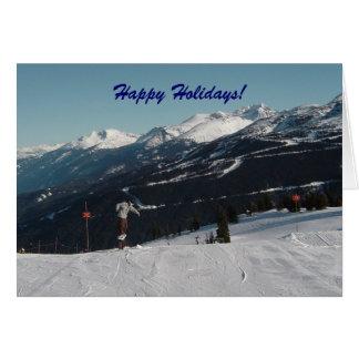 Snow Scene in Whistler B C Greeting Cards