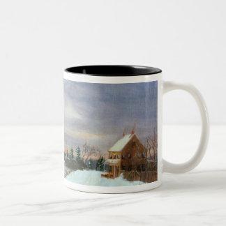 Snow scene, New England Coffee Mug