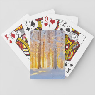 SNOW SCENE PLAYING CARDS