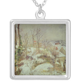 Snow Scene Silver Plated Necklace