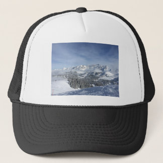 Snow scene trucker hat