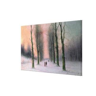 Snow Scene-Wanstead Park Canvas Print