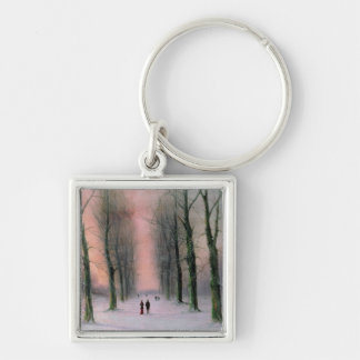 Snow Scene-Wanstead Park Key Chain