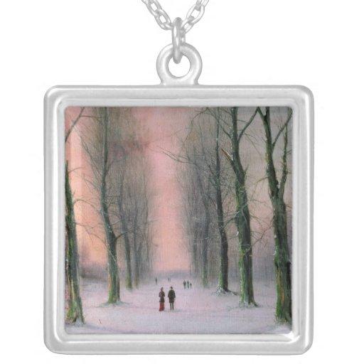 Snow Scene-Wanstead Park Custom Necklace