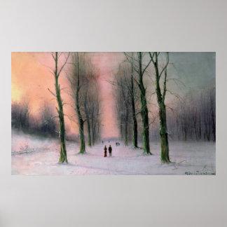 Snow Scene-Wanstead Park Poster