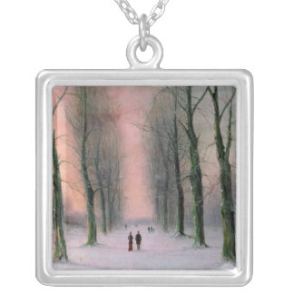 Snow Scene-Wanstead Park Silver Plated Necklace