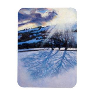 Snow Shadows 2009 Rectangular Photo Magnet