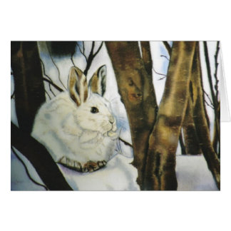 """""""Snow Shoe Hare"""" Greeting Card"""