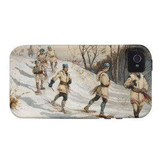 Snow-shoeing Winter Xmas scene Vibe iPhone 4 Cover