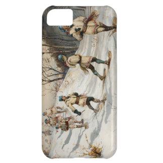 Snow-shoeing Winter Xmas scene iPhone 5C Cases
