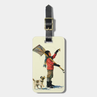 Snow Shoveler Luggage Tag