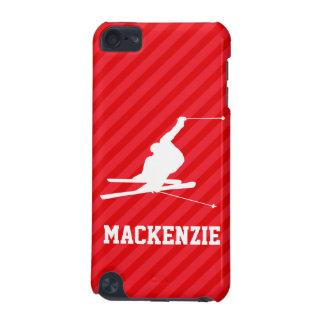 Snow Ski; Scarlet Red Stripes iPod Touch 5G Case