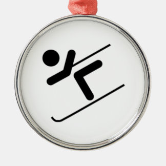 Snow Skier Christmas Ornament