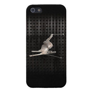 Snow Skiing; Cool Black iPhone 5/5S Covers