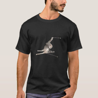 Snow Skiing; Cool Black T-Shirt