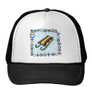 Snow Sledding Hat