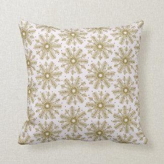 Snow Snowflake Decorative Winter Throw Pillow