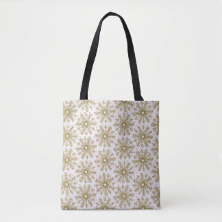 Snow Snowflake Decorative Winter Tote Bag