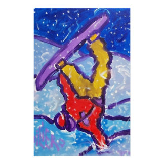 Snow Sports by Piliero Stationery