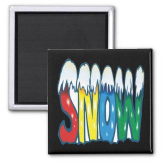 Snow Square Magnet