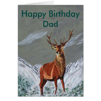 SNOW STAG GREETING CARD