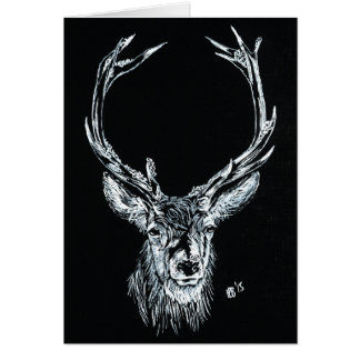 Snow Stag Note Card