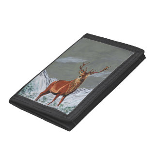 SNOW STAG TRI-FOLD WALLETS