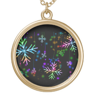 Snow Star Gold Plated Necklace