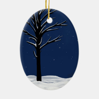 Snow & Stars Christmas Ornament
