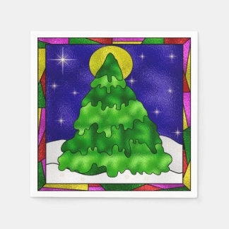Snow, Stars, Pine Tree & Moon Paper Serviettes