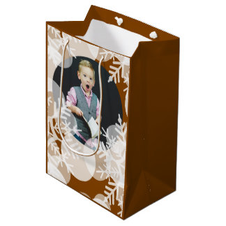 Snow Stars - White, Honey Gold - Gift Bag