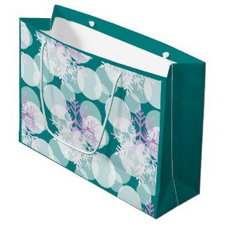 Snow Stars - White, Teal, Purple - Gift Bag