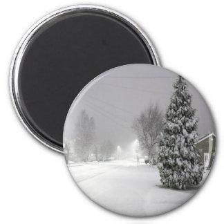 Snow Storm 6 Cm Round Magnet